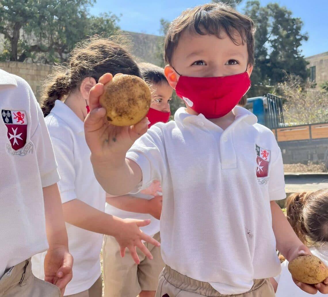 Children on Potato Day