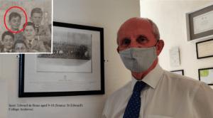 headmaster with picture of Edward Debono